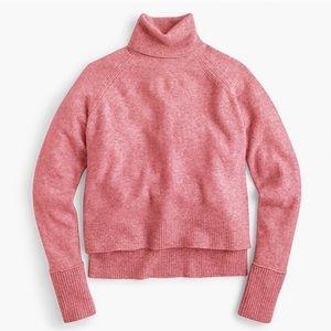 JCrew pink wool blend turtleneck sweater